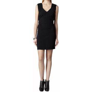 All Saints Ash v-neck wool Italian Cloth dress - 8